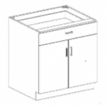 Series 3624-DDDRWC Door/Drawer Base Cabinet