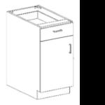 Series 1824-SDDRWC Door/Drawer Base Cabinet