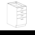Series 1824-3BFC Three Drawer Box/File Base Cabinets