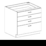 Series 3624-3BFC Three Drawer Box/File Base Cabinets