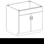 Series 3624-DDSC Full Door Base Cabinet
