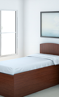 Behavioral Health Bed and Headboard
