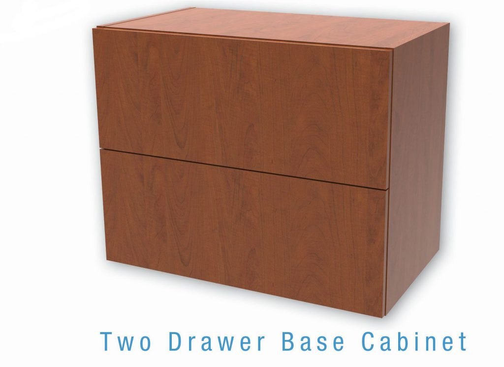 Two Drawer Base Cabinet