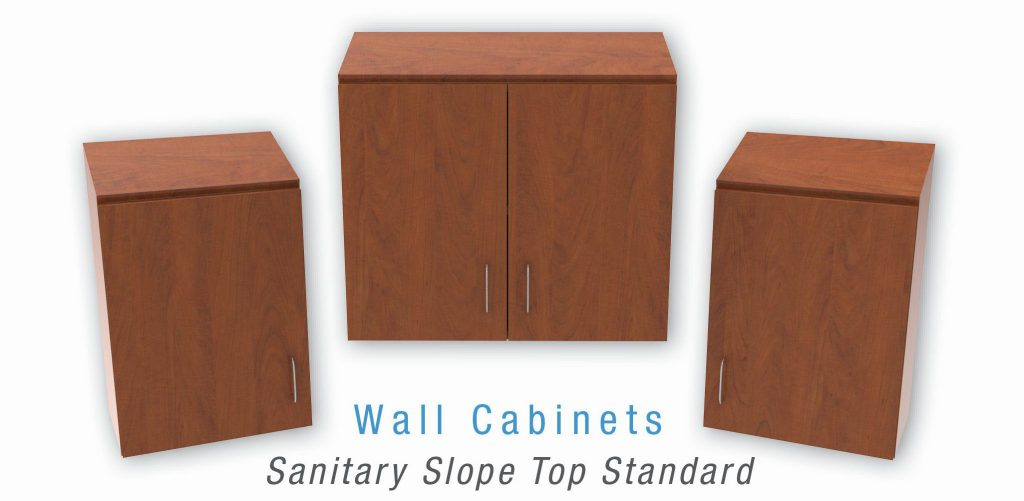 Wall Cabinets Sanitary Slope Top Standard
