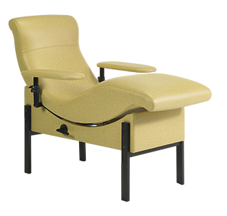 650-L1-T2 Blood Donor Chair with Manual Positioning, Legs, and Adjustable Arms